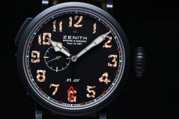 Zenith Pilot Montre d'Aeronef Type 20 GMT Mens Watch